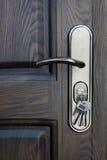 Door lock with keys Stock Photos