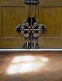 Door lock in main door of Basilica di Santa Croce. Stock Photography