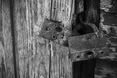 Door lock old rusty background Stock Photography