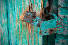 Door lock old rusty background Royalty Free Stock Images