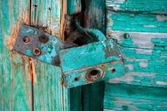 Door lock old rusty background Stock Photos
