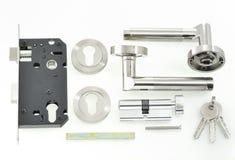 Door lock parts. Shoot in studio stock photography