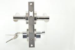 Door lock parts. Shoot in studio royalty free stock photos