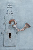 Door-lock in Saint Nicholas Monastery Royalty Free Stock Images