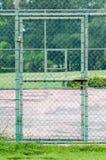Door lock on tennis court. Stock Images