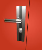 Door lock. Vector realistic lock, eps10 file, gradient mesh and transparency used Stock Image