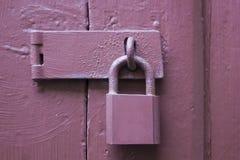 Door locks with key Stock Photography