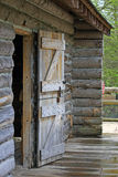 Door of log cabin Stock Image