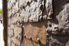 Door made of made several iron sheets, Toledo Stock Images