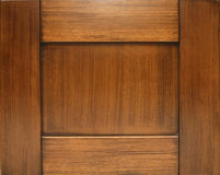 Door made out of chestnut wood Stock Image