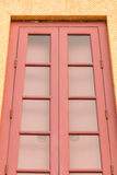 Door made of wood with the delicate and beautiful Stock Photography