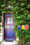 Door and mail boxes Stock Photo