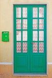 Door and mailbox Stock Photo