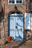 Door on mainstreet in a Danish village Stock Image