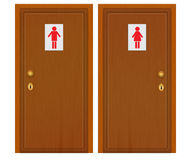 Door male female Royalty Free Stock Photo