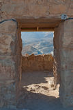 A door in the Masada ruins Royalty Free Stock Photos