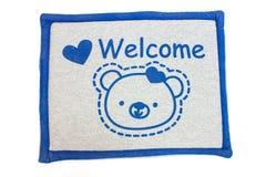 Door mat with Carpet Royalty Free Stock Photo
