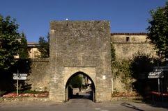 Door of medeival Village, Mirepoix, Ariege, Royalty Free Stock Photo