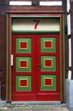 Door of medieval building in Hameln, Germany. Stock Photos