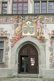 Door medieval City Hall Lindau Stock Photos