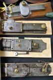 Locks. The door metal ancient locks Royalty Free Stock Photo