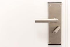 Door metal handle Stock Photo