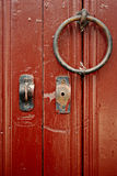 Door Metal Knocker and Lock Details Royalty Free Stock Photography