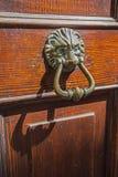 Door with metal knocker Stock Photo
