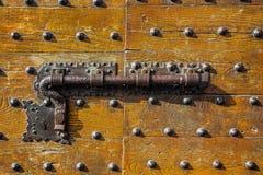 Door with metal knocker Royalty Free Stock Photos