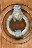 Door with metal knocker Royalty Free Stock Photo