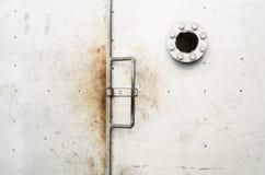 Door metal plate Stock Photo