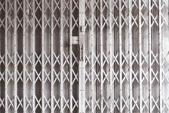 Door metal, shutters shop Royalty Free Stock Photography