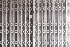 Door metal, shutters shop. Or industrial building royalty free stock photography