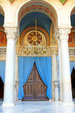 Door of the Metropolitan Cathedral of Athens, Greece royalty free stock photo
