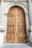 Door of the Metropolitan Cathedral in Mexico City - Mexico. North America Royalty Free Stock Images