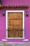 Door in Mexico. An old brown door in Mexico Royalty Free Stock Photos