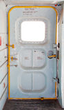 Door of military plane inside Stock Image