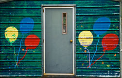 Door on mobile house Royalty Free Stock Image