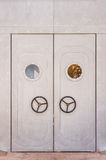 The door of modern on background. Royalty Free Stock Photo