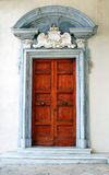 Ancient Door in Montecassino Abbey, Italy Royalty Free Stock Photo