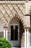 The door in Moorish Castle Alcazar, Sevilla, Spain Royalty Free Stock Photo