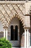 The door in Moorish Castle Alcazar, Sevilla, Spain Royalty Free Stock Photo