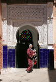 Door of the mosque. For women only, Marrakech stock photo