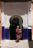 Door of the mosque Stock Photo