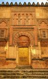 Door of the mosque in Cordoba Stock Photography
