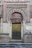 Door of the mosque of Cordova Stock Images