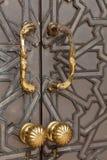 Door of the mosque Hassan II Royalty Free Stock Photo