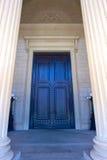 Door of the National Archives. Massive doors lead from the portico into the National Archives in Washington DC stock image