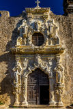 Door of the National Park Spanish Mission San Jose, San Antonio, Texas. Royalty Free Stock Images