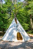 Door in Native American Teepee in Woods Royalty Free Stock Photos